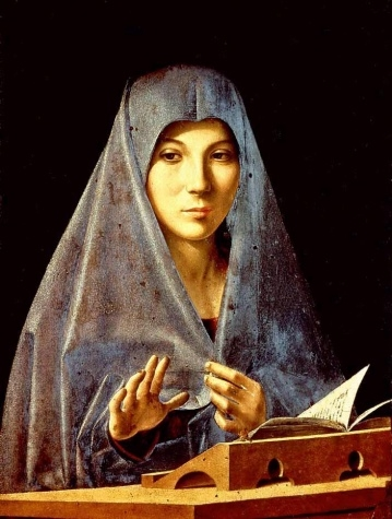 Antonello da Messina (1430-1479). Virgin Annunciate. 1476