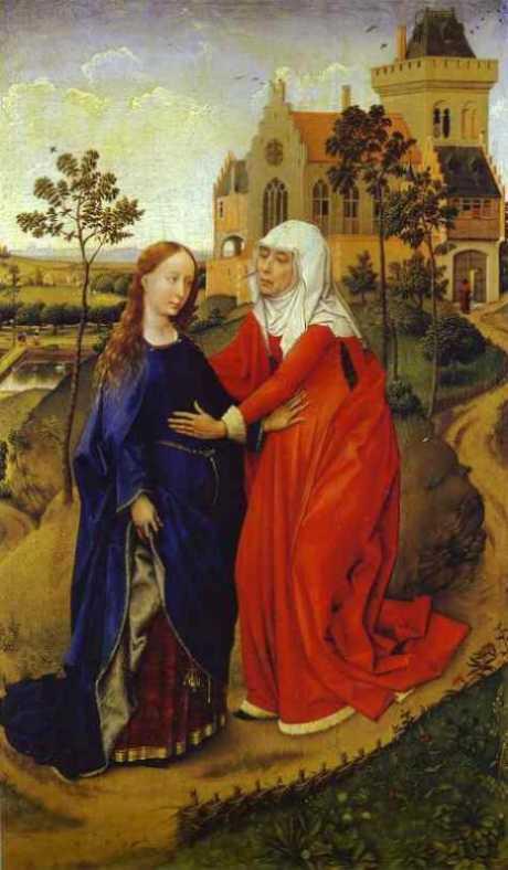 Van der Weyden, Nawiedzenie Elżbiety przez Maryje
