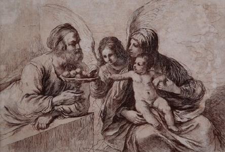 Święta Rodzina z aniołem