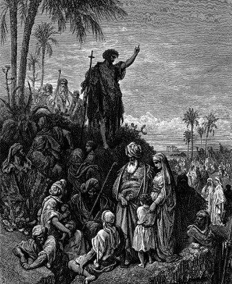 św. Jan Chrzciciel nauczający na pustkowiu