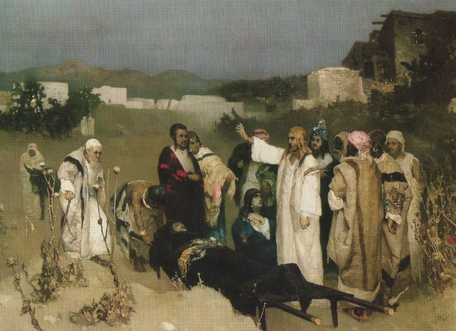 W.Kotarbiński, Wskrzeszenie syna wdowy z Naim