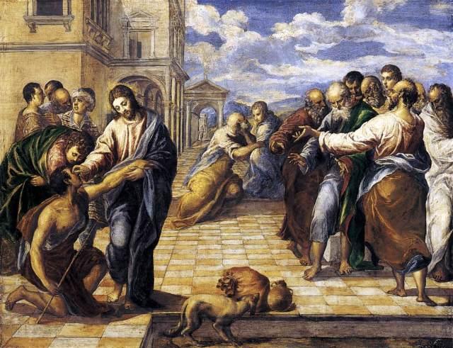 Chrystus uzdrawia niewidomego