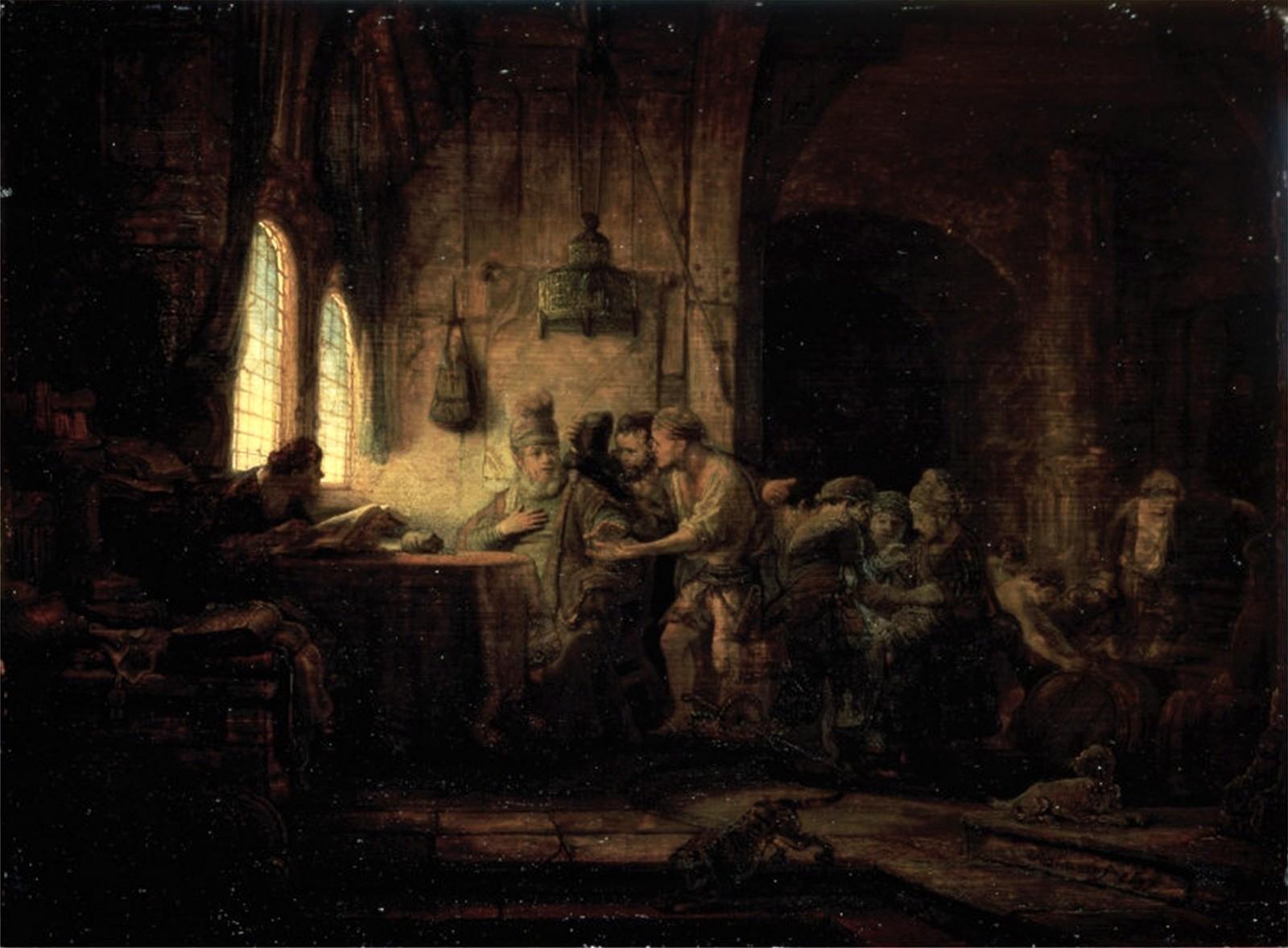 Rembrandt, Przypowieść o robotnikach w winnicy, 1637