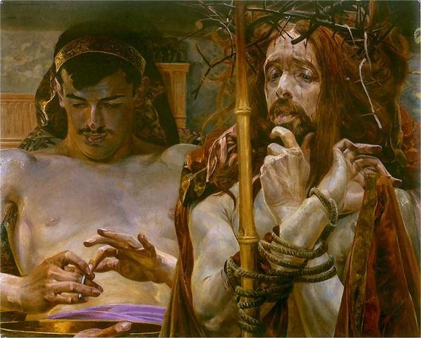 J.Malczewski, Chrystus przed Piłatem
