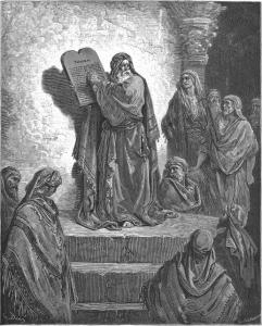 Gustaw Dore, Ezdrasz czyta Księgę Prawa