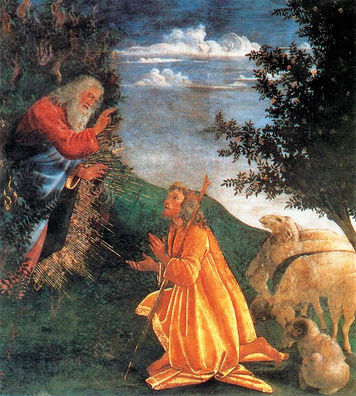 Sébastien Bourdon (1616–1671), Mojżesz i krzew gorejący