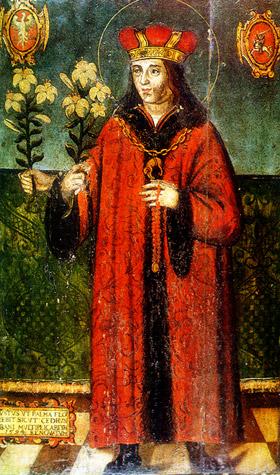 św. Kazimierz Jagiellończyk (1458–1484), katedra wileńska, ok. 1520