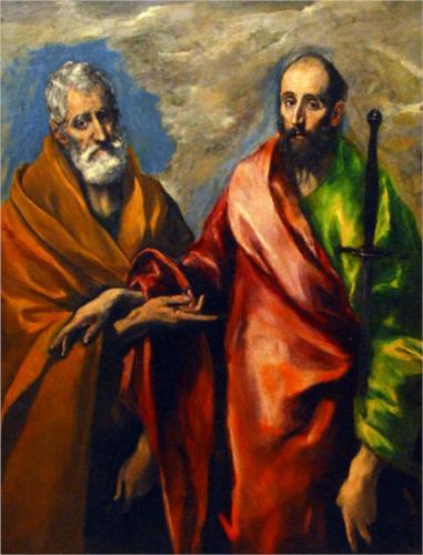 El Greco (1541–1614), Święci Piotr i Paweł, 1592