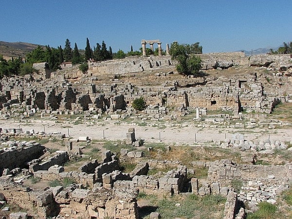 Korynt ze świątynią Apollina